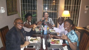 Dinner with the Region Manager- Prof hosted in Ghana