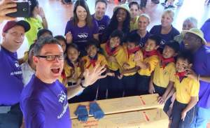 Max gives back!!! Putting smiles on kids faces at the Diamond trip in Thailand
